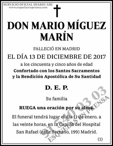 Mario Míguez Marín